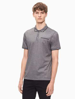 Calvin Klein regular fit tipped polo shirt