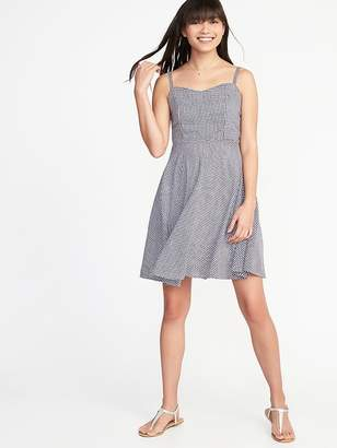 Old Navy Fit & Flare Cami Gingham Dress for Women