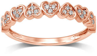 MODERN BRIDE Womens Other 1/8 CT. T.W. Genuine White Diamond 10K Rose Gold Anniversary Band