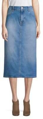 Oscar de la Renta Midi Denim Skirt