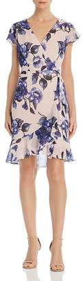 Adrianna Papell Geranium Faux-Wrap Dress