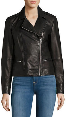 Lord & Taylor Leather Moto Jacket $400 thestylecure.com