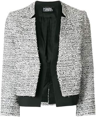 Karl Lagerfeld bouclé and satin blazer