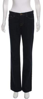 J Brand Mid-Rise Wide Jeans