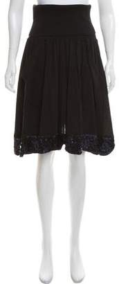 Sonia Rykiel Sonia by Sequin-Accented Knee-Length Skirt