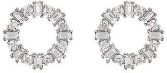 Ileana Makri Women's White Diamond Ring Stud Earrings
