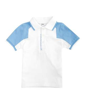 HUGO BOSS Kids Contrast Tip And Sleeve Polo