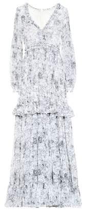 Costarellos Floral chiffon gown