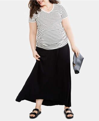 cf0685bf3c3ce Motherhood Maternity Plus Size Maxi Skirt