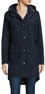 Barbour Katabatic Midlength Rain Jacket $269 thestylecure.com