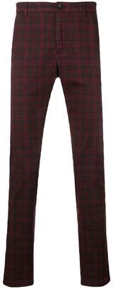 Department 5 checked slim-fit trousers
