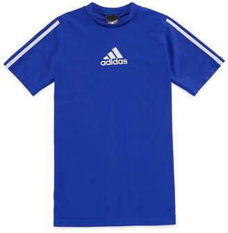 adidas Short Sleeve Rash Guard - Boys 8-20