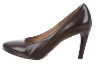 Dries Van Noten Leather Round-Toe Pumps