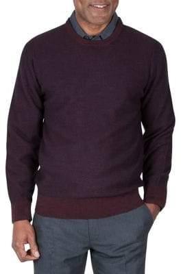 Haggar Diamond Knit Crew Neck Sweater