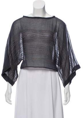 Brunello Cucinelli Sequin Long Sleeve Top