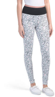 High Waist Snow Leopard Leggings