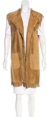 P.A.R.O.S.H. Fringe Leather Vest