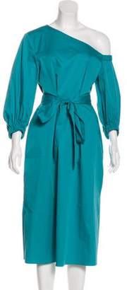 Tibi Asymmetrical Midi Dress