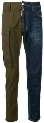 DSQUARED2 mixed denim and cargo trousers
