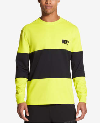 DKNY Men's Athleisure Colorblock Side Zip Sweatshirt, Created for Macy's