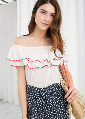d8abddd5a3f And other stories Ruffled Off Shoulder Top