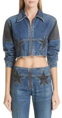 Atelier Jean Toni Crop Star Denim Jacket