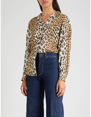 MiH Jeans x Bay Garnett Golborne Road Vintage leopard-print crepe shirt
