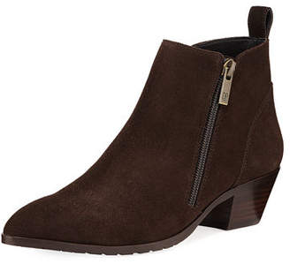 Donald J Pliner Dixie Pointed-Toe Suede Booties