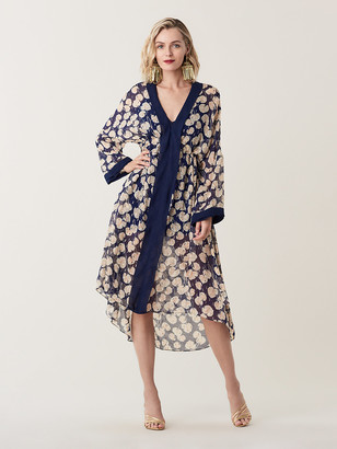 Diane von Furstenberg Terry Sheer Silk Maxi Dress