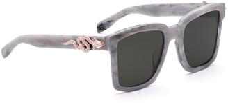 Alexis Bittar Big Tv With Snake Sunglasses