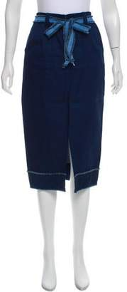 Timo Weiland Belted Knee-Length Skirt