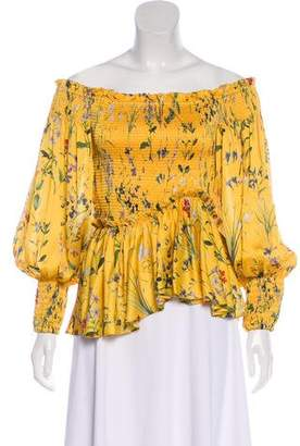 Alexis Floral Print Ruffle Top w/ Tags