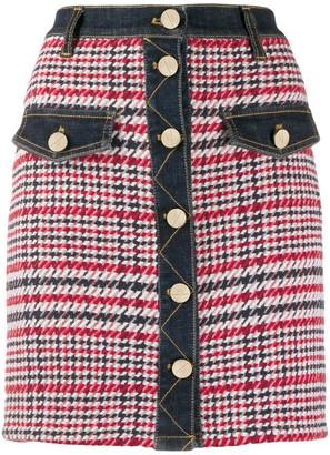 Elisabetta Franchi tweed contrast mini skirt