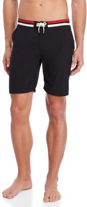 Solid & Striped Black Board Shorts