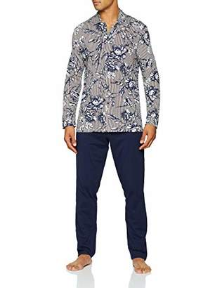 Hom Men's Botanic Long Sleepwear Pyjama Set,X-Large