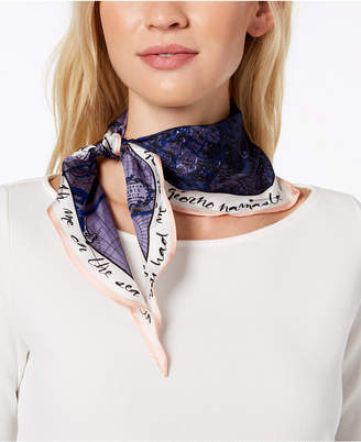 Vince Camuto You Had Me At Ahoy Silk Kite Diamond Bandana Scarf