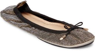 Yosi Samra Pyrite Sandrine Shimmer Ballet Flats