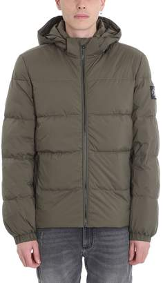 Calvin Klein Jeans Green Polyester Down Jacket