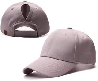 FCX-Fashion Ponycap Messy Ponytail Adjustable Mesh Hats for Women Baseball Caps
