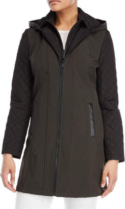 MICHAEL Michael Kors Quilted Sleeve Softshell Coat