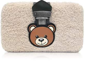 Moschino Teddy Bear Eco-Shearling Clutch w/Chain Strap