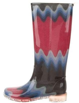 Missoni Rubber Knee-High Boots