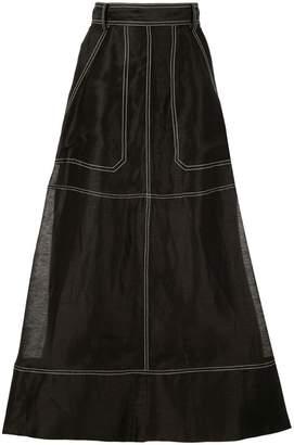 Lee Mathews Lotte Crushed Midi Skirt