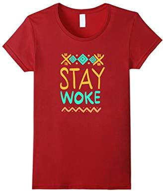 Stay Woke T-shirt. African Inspired Shirt Design and Colors