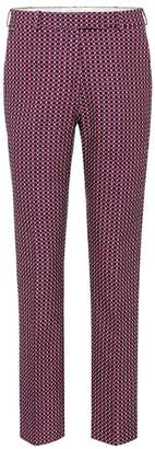 Etro Printed cotton-blend trousers
