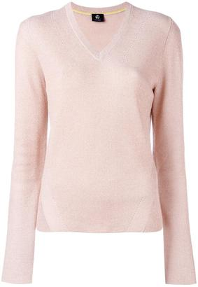 Ps By Paul Smith glitter effect V-neck jumper $300 thestylecure.com