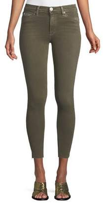 Hudson Barbara High-Waist Super-Skinny Ankle Jeans with Raw Hem