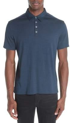 John Varvatos Collection Hampton Silk & Cotton Polo