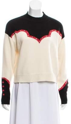 Alanui 2019 Studded Cashmere Sweater red 2019 Studded Cashmere Sweater