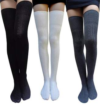 9cb378747 American Trends Women Solid Colors Thick Cotton Thigh High Socks